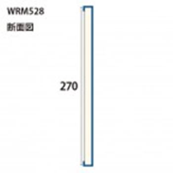 WRM528WH みはし株式会社 MDF製ハイラップ 内装用 平板形状品基材:MDF 表面材