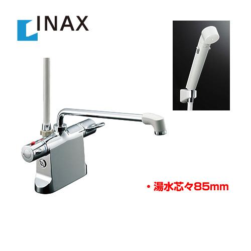 【後継品での出荷になる場合がございます】[BF-B646TSDW--300-A85] INAX イナックス 浴室水栓 シャワー水栓 蛇口 サーモスタットシャワー金具 浴槽・洗い場兼用 エコフルスイッチシャワー付 【パッキン無料プレゼント!(希望者のみ)※同送の為開梱します】 台付