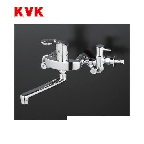 [KM5000CHTTU]KVK キッチン水栓 シングルレバー式混合栓 セラミックシングル 壁付けタイプ 逆止弁付 給水・給湯接続 【送料無料】 おしゃれ