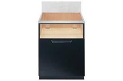 [LA6012A]ハーマンスライド収納庫(1段スライド)ブラック扉※ガスコンロ本体をご購入のお客様のみの販売となります