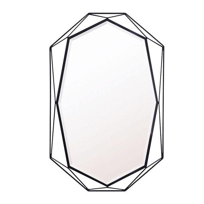 ウォールミラーGEMMBK【 鏡 ミラー 壁掛け 飛散防止】