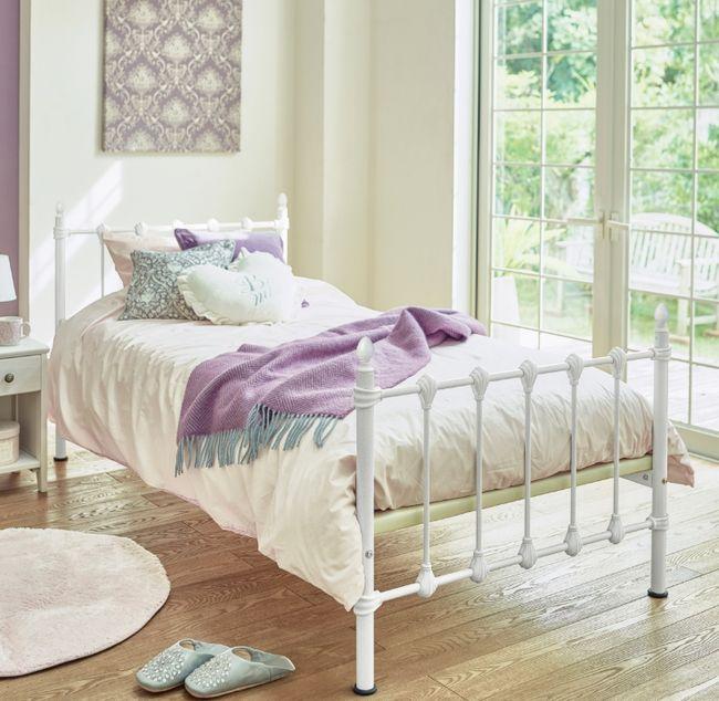 ベッド【ホワイト シングルベッド】