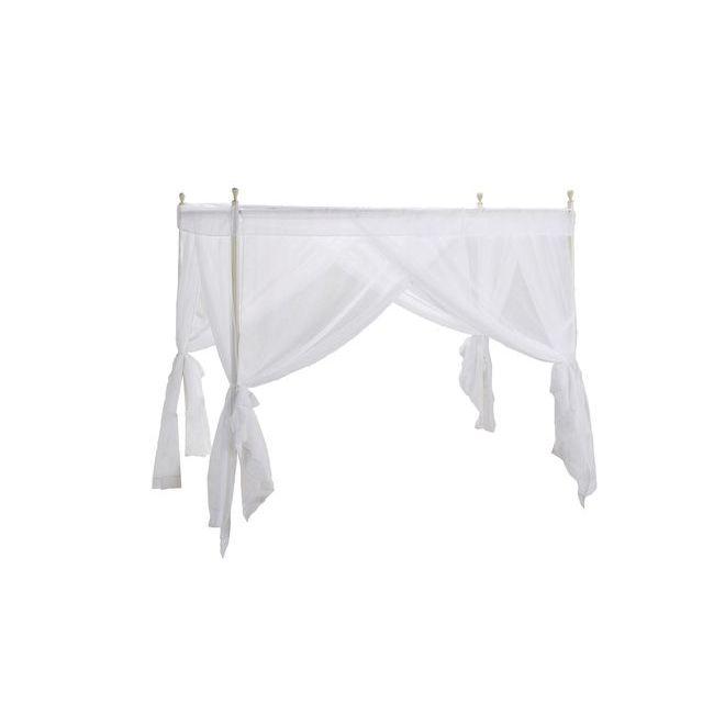 天蓋付カーテン(ホワイト)【天蓋付きベッド用カーテン】