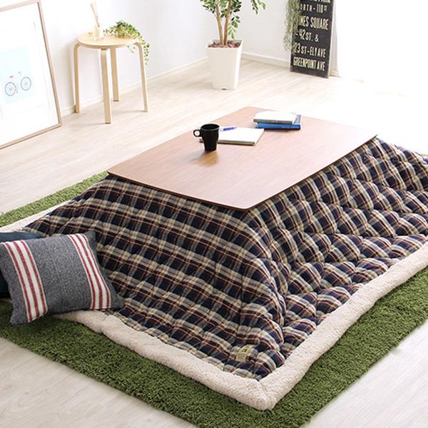ウォールナットの天然木化粧板こたつ布団セット(7柄)日本メーカー製 Mill-ミル-