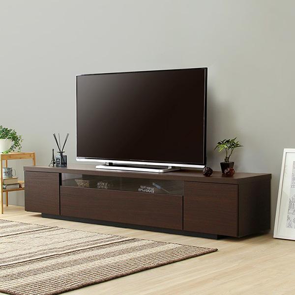 日本製・完成品 シンプルで美しいスタイリッシュなテレビ台(テレビボード)  luminos-ルミノス- 幅180cm 木製