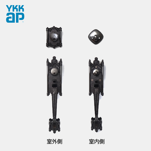 YKK 玄関 グランドロック WEST 5500 サムラッチハンドル錠 ドアノブ セットWEST ピンシリンダー仕様 左右勝手兼用