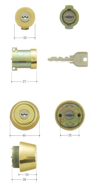 2個同一セット MIWA(美和ロック) U9シリンダー PA(DA75)タイプ+LSP(TE24)タイプ MCY-412 PA + TESP など