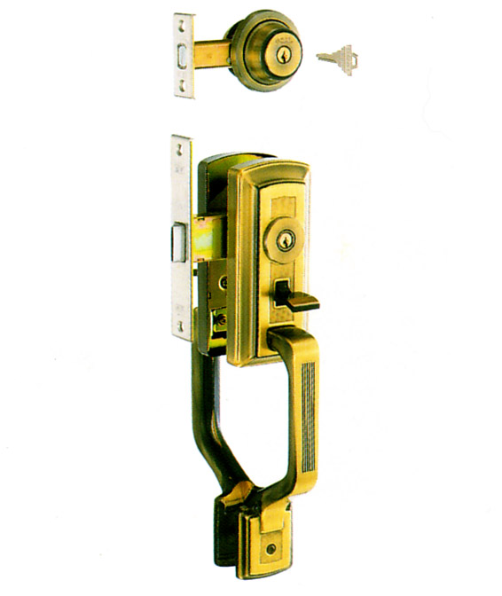 GOAL AD 玄関 + GF サムラッチハンドル錠 GB-51 YKK  GB51 ゴール AD GF