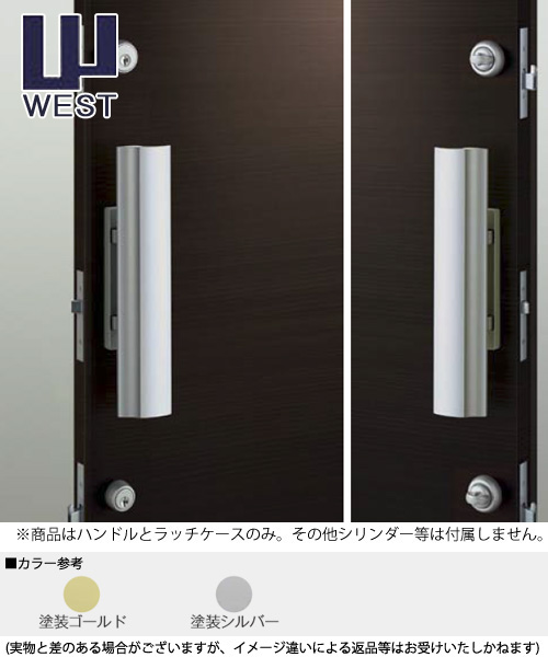 WEST プッシュプル錠 918 空錠タイプ ハンドル(P75Bラッチケース付属) 交換 取替え空錠