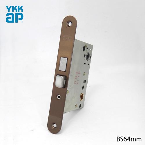 YKK 錠ケース MIWA LZSP 角R付き 主錠 交換 取替えバックセット64mm 主な使用ドア:木製ドア サロ 美和ロック LZSP