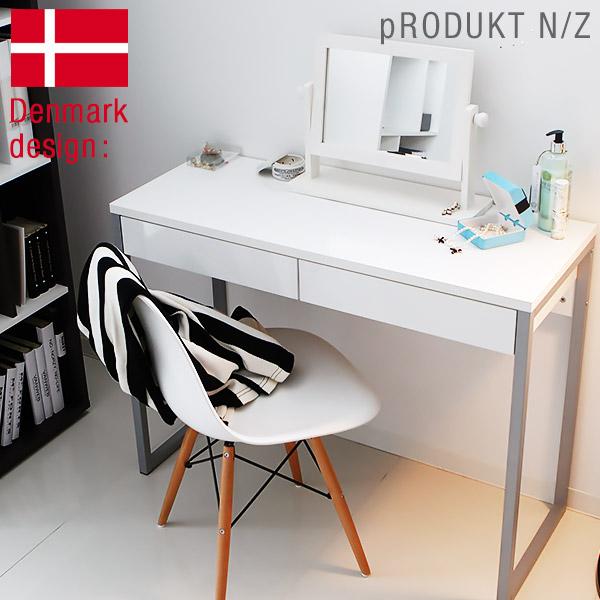 【デンマーク産】 デスク パソコンデスク おしゃれ スチール脚 ワークデスク PCデスク シンプルデスク 幅102cm 北欧デスク 北欧家具 北欧風 家具 新生活