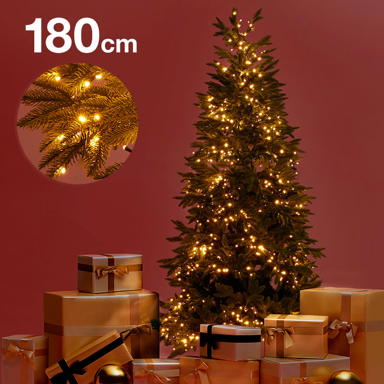 [クーポンで10%OFF! 10/4 20:00-10/11 1:59] クリスマスツリー 180cm クリスマス ツリー LED LEDライト 180cmクリスマスツリー シンプル 置物 店舗用 法人用 業務用 ショップ用 簡単組立