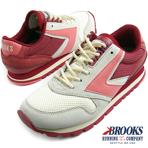 BROOKS HERITAGE ブルックス ヘリテージ WOMEN CHARIOT VARSITY (612) Cloud Cream/Rosebud/Lantana スニーカー
