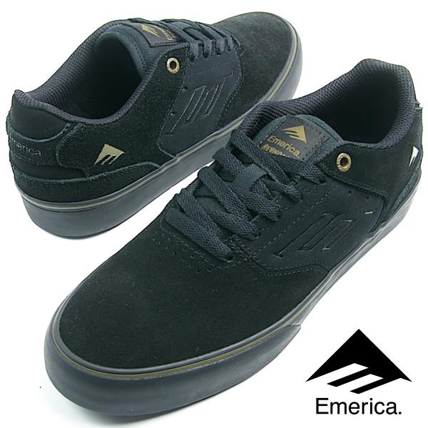 Emerica エメリカ THE REYNOLDS LOW VULC (897) レイノルズ BLACK/OLIVE/BLACK メンズ レディース スニーカー スケシュー スケートシューズ