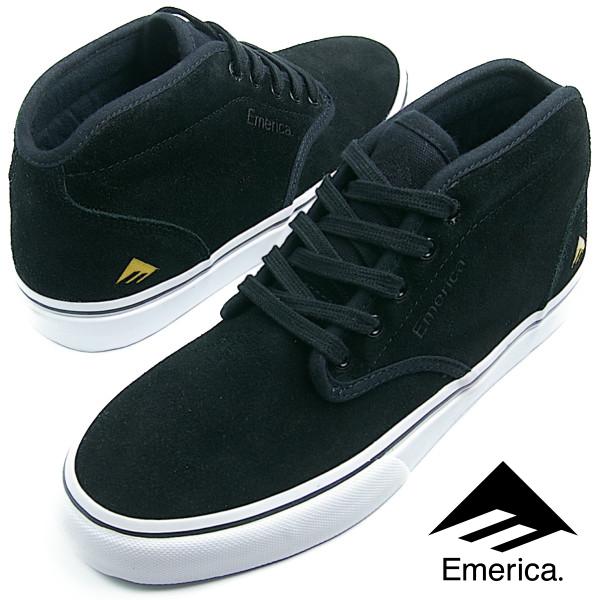 Emerica エメリカ WINO G6 MID BLACK/WHITE/GOLD ブラック ホワイト メンズ レディース スニーカー スケシュー スケートシューズ