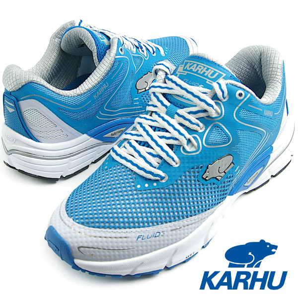 KARHU カルフ Fluid4 MRE フィニッシュブルー/ホワイト/シルバー レディース ランニングシューズ