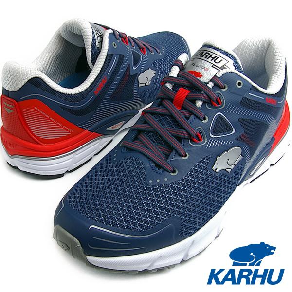 KARHU カルフ FlUID6 MRE インシニアブルー/チェリートマト メンズ ランニングシューズ