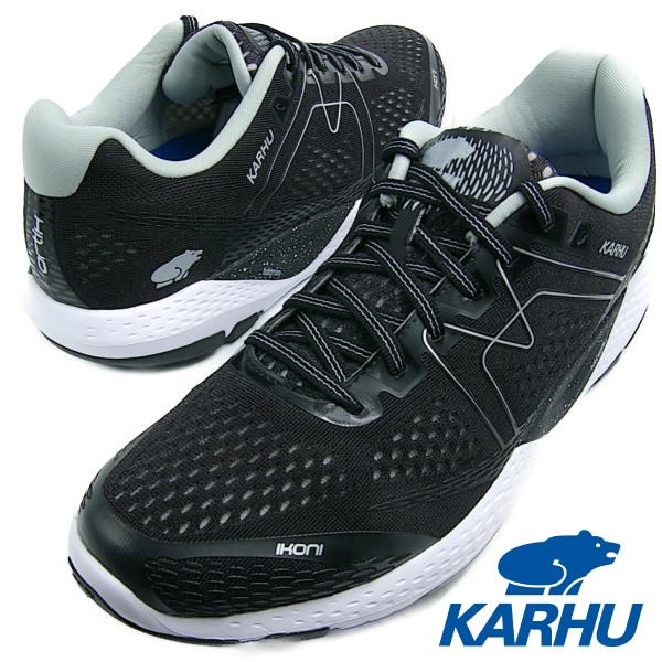 KARHU カルフ IKONI ORTIX イコニ オルティックス JET BLACK/WHITE ジェットブラック/ホワイト メンズ・レディース ランニングシューズ