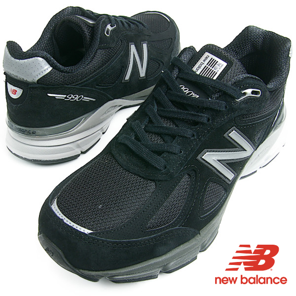 NewBalance ニューバランス M990 BK4 ブラック メンズ スニーカー M990BK4 D/2E/4E USA製 送料無料