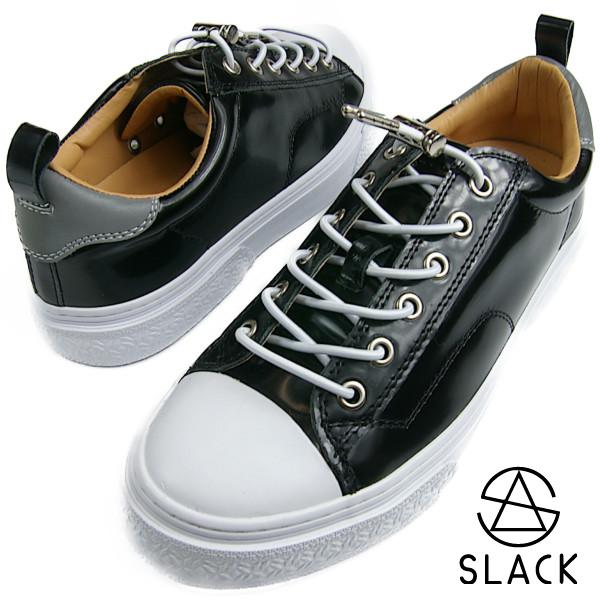 SLACK スラック CLUDE クルード BLACK/WHITE ブラック【送料無料】 メンズ レディース スニーカー ガラスレザー 本革