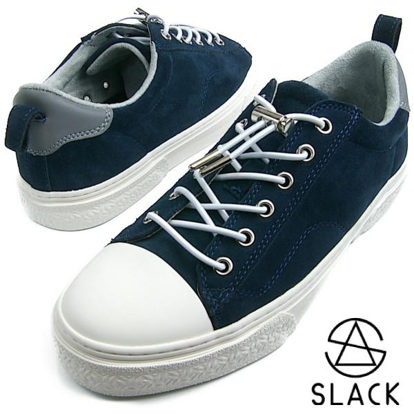 SLACK スラック CLUDE NAVY/WHITE ネイビー ホワイト【送料無料】 メンズ レディース スニーカー 本革スエード