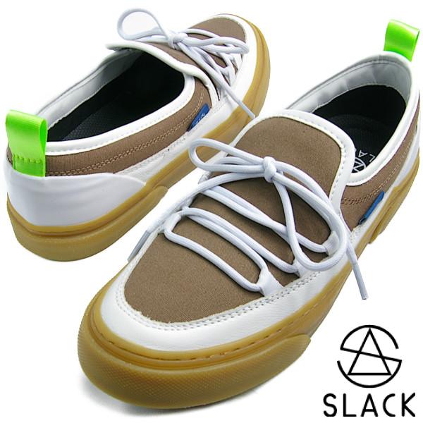 SLACK スラック INTLOOP (WHITE/GUM) イントループ アッシュブラウン/ホワイト【送料無料】 メンズ レディース スニーカー