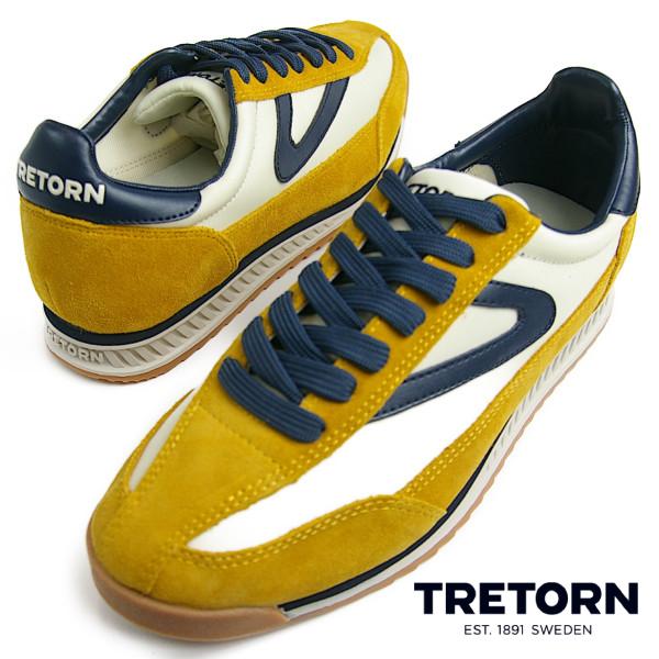 TRETORN トレトン RAWLINS2 Lemon/Ice/Night メンズ スニーカー スウェーデン発 送料無料