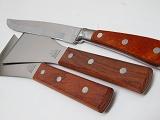 鉄板焼き道具、プロ用、33cm鉄板ナイフ1+23,5cm返し2、セット販売