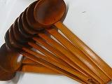 木製れんげ 50ヶセット 業務用向 竹炭5枚付