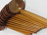 和風木製お玉100本セット ラーメンうどん等向き業務用 竹炭20枚付き