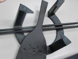 南部鉄五徳小 直14cm、火箸28cm、灰慣らし18cm、竹炭浄水5cm 5枚付