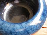 生子火鉢(5099ー01)W390xH210、信楽焼生子火鉢、紀州備長炭 灰5kg、白ねんど1kg、白砂1kg付 備長炭500g付き