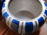 十草信楽焼火鉢、8号(W250×H210)火箸25cm 底白砂1kg、底ネンド1kg 備長炭500g