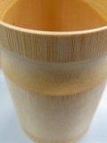 箸立て、H14cm、直9cm、竹和風はしいれ、、業務用に20ケセット販売