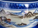 山水火鉢10号 キンカ:C13-3,10号 340xH240 備長炭500g付きデザインの美しい座敷大型火鉢です。