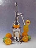 果汁絞りハンドジューサー H38cm、テーブル、カウンターに置いても邪魔にならず手軽に作れて重宝します。健康、美容に最適です。