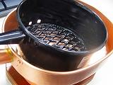 銅製十能+火お起こし銅製台付十能、木炭ライフ必需品備長炭500g付き