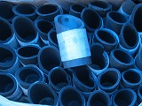 竹炭筒、ナナメカット、10cmx4cm~7cm、20ケ販売