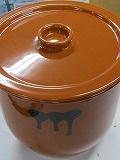 たれ壷 8号 14.4L 常滑焼 国産 蓋付 タレ壷