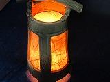 信楽焼 あんどん 癒しの灯りたちシリーズ ビードロ国産浄水竹炭5枚付