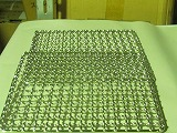 ステンレス角網 正方形300mm×300mm2枚 竹炭5枚付
