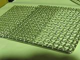 ステンレス角網 正方形250mm×250mm2枚 竹炭5枚付