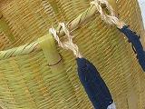 背負い竹籠 高さ40cm 竹炭5枚付