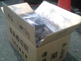 バ-ベキュ-用木炭 熊本樫黒炭 10kg
