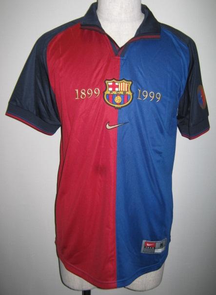 ナイキ FCB バルセロナ センテニアル 1999 半袖 レプリカ ゲームシャツ