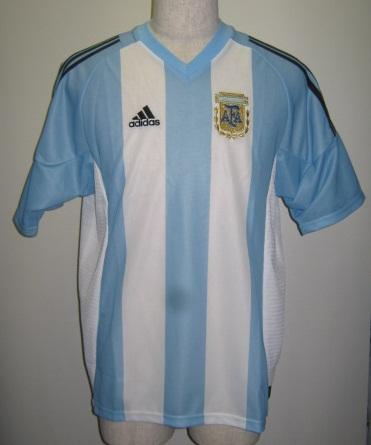 アディダス O6933-167309 2002-03 アルゼンチン レプリカ ゲームシャツ 半袖