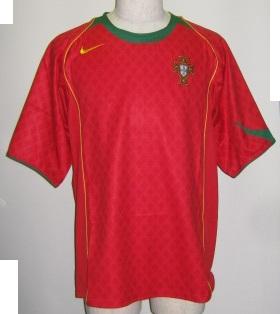 ナイキ NIKE L116612 611 2004-05 ポルトガル ホーム レプリカ ゲーム シャツ 半袖