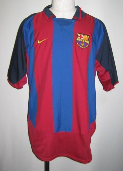 ナイキ NIKE-112586-655 2003-04 FCB バルセロナ ホーム レプリカ ゲームシャツ 半袖