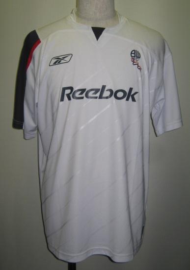 リーボック ACMF5098 2005-06 ボルトン ワンダラーズ ホーム レプリカ ゲームシャツ 半袖