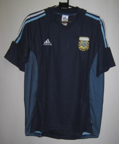 アディダス 2002-03 167308-06539 アルゼンチン アウェイ レプリカ ゲームシャツ 半袖